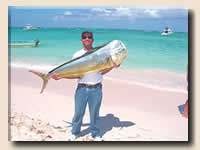 Nice mahi mahi caught on a Punta Cana fishing charter