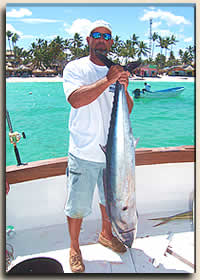 Punta Cana fishing charter catches large wahoo